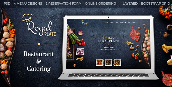 Royal Plate – Restaurant & Catering PSD Template