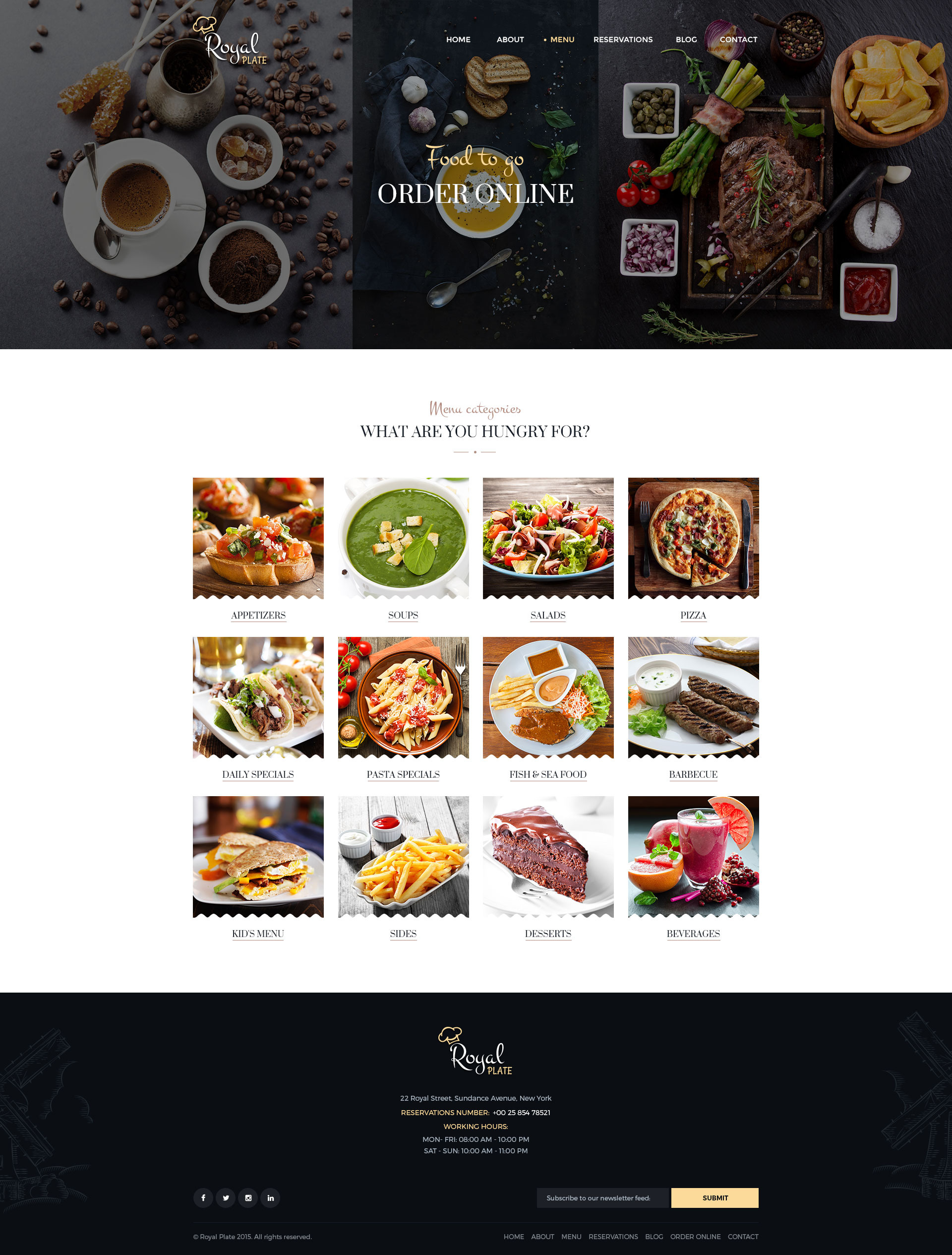 Royal Plate Restaurant Catering PSD Template By Pixel Industry 08 Order  Online Categories 12757603. Kids Menu Templates Caterer Sample Kids Menu  Templates ...