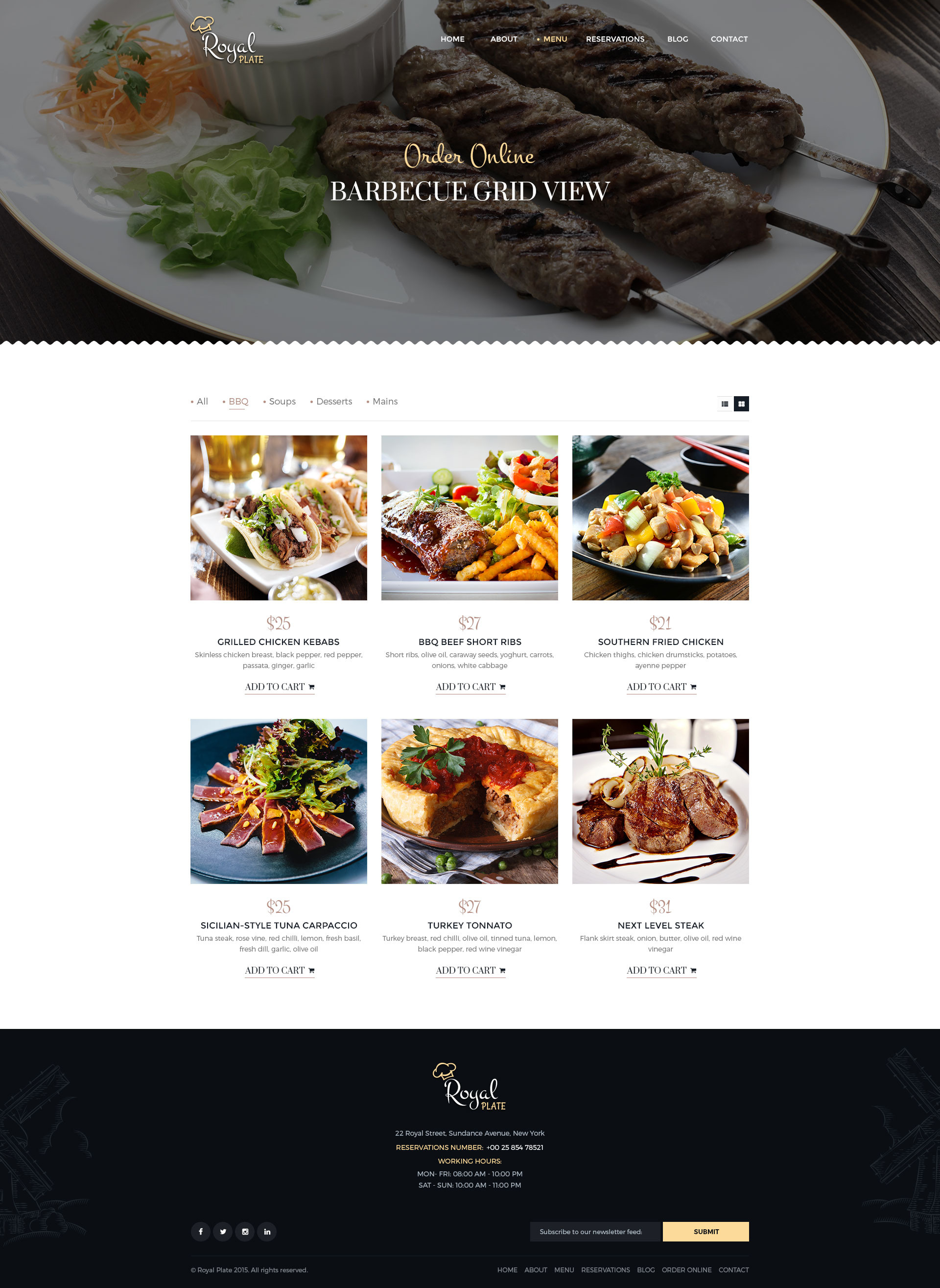 Royal Plate Restaurant Catering Psd Template By Pixel Industry