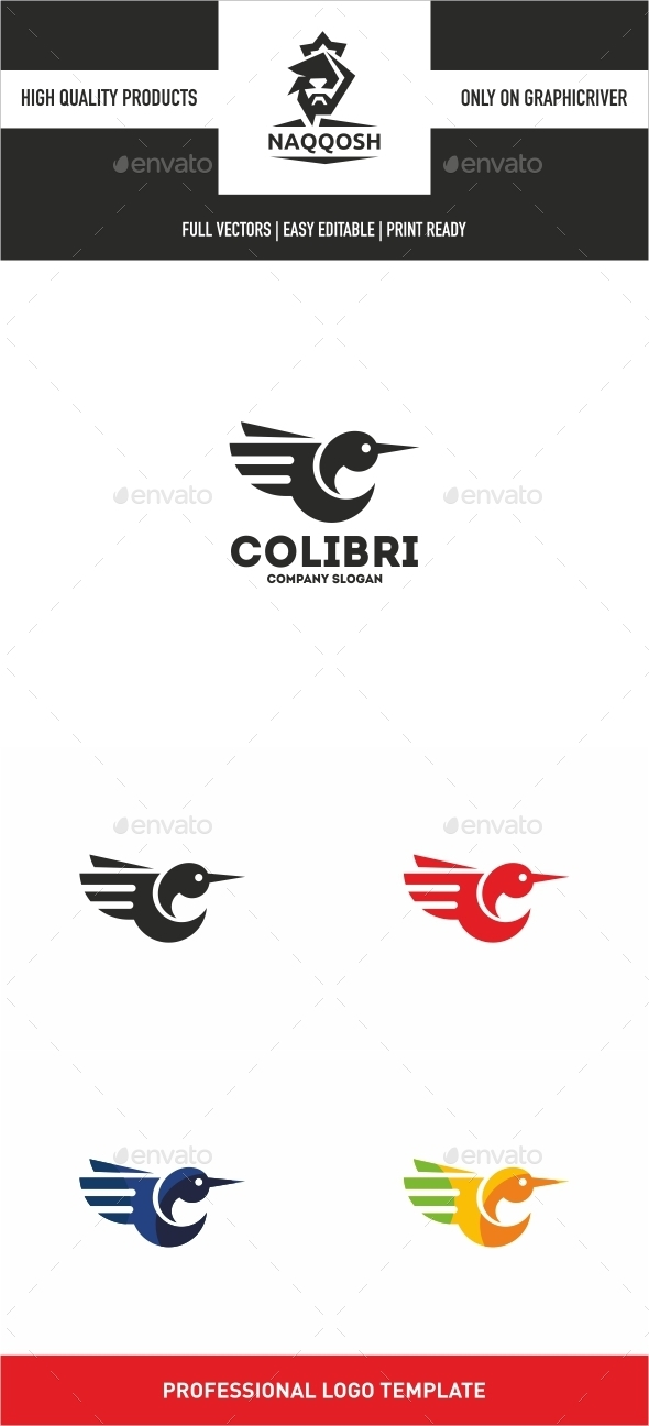 Colibri - Animals Logo Templates