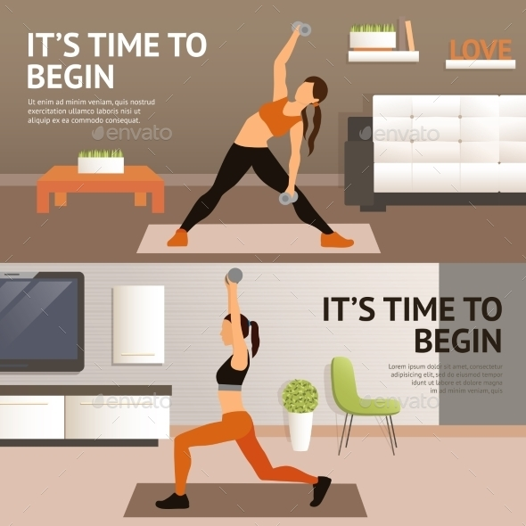 Woman Home Workout - Sports/Activity Conceptual