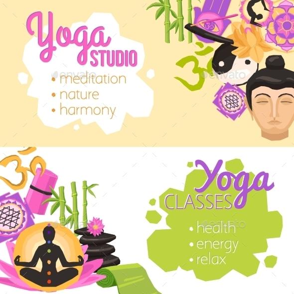 Yoga Banners Horizontal - Sports/Activity Conceptual