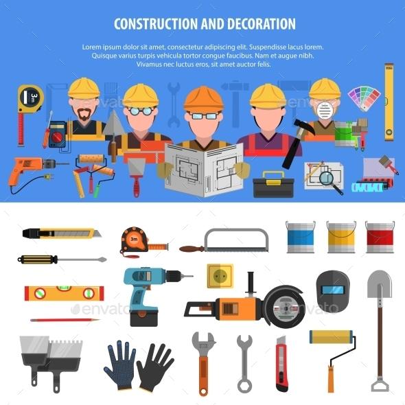Worker Banner Set - Industries Business