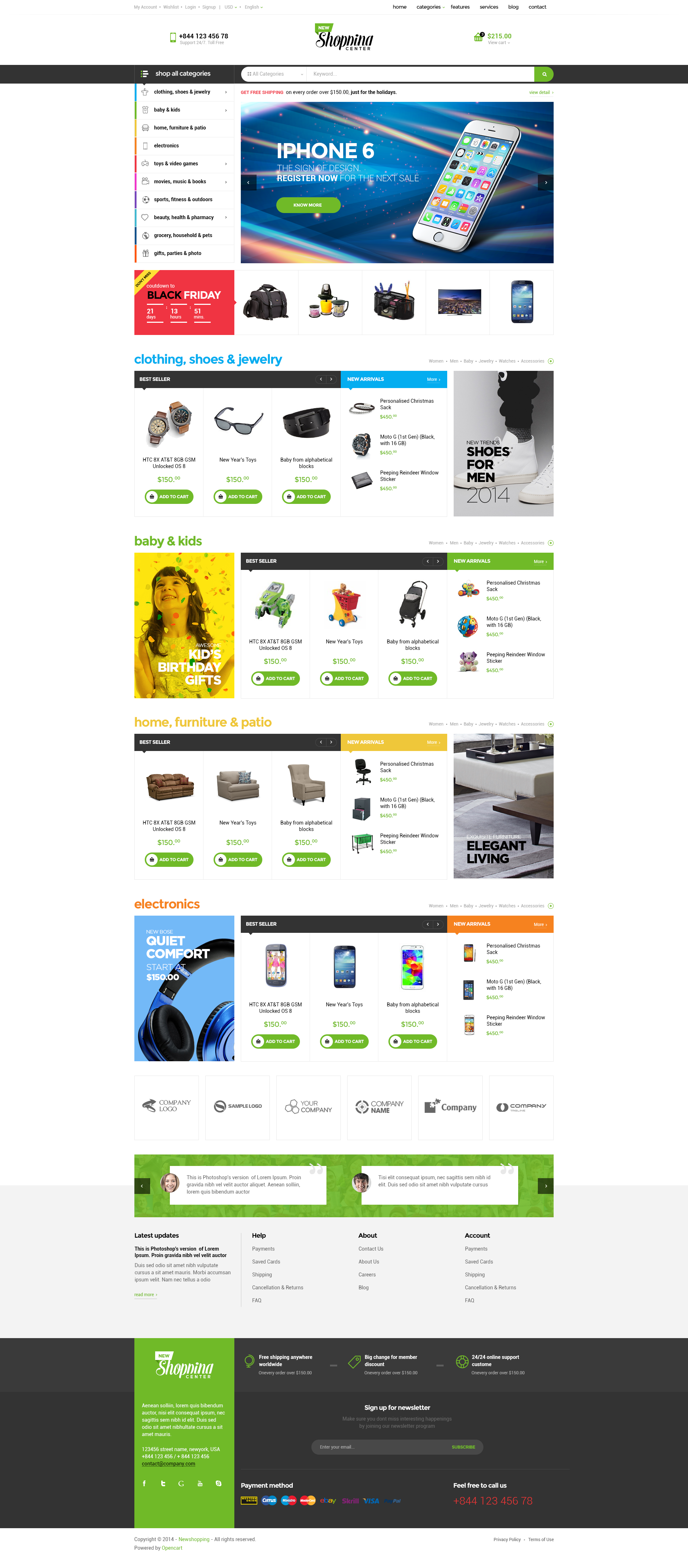 Ap shopping center responsive shopify theme download zip template free free templates for Free shopify themes download