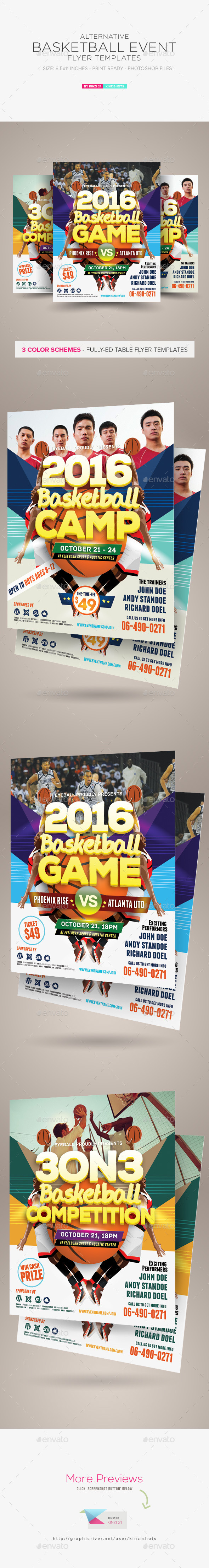 Basketball Event Flyer Templates - Sports Events
