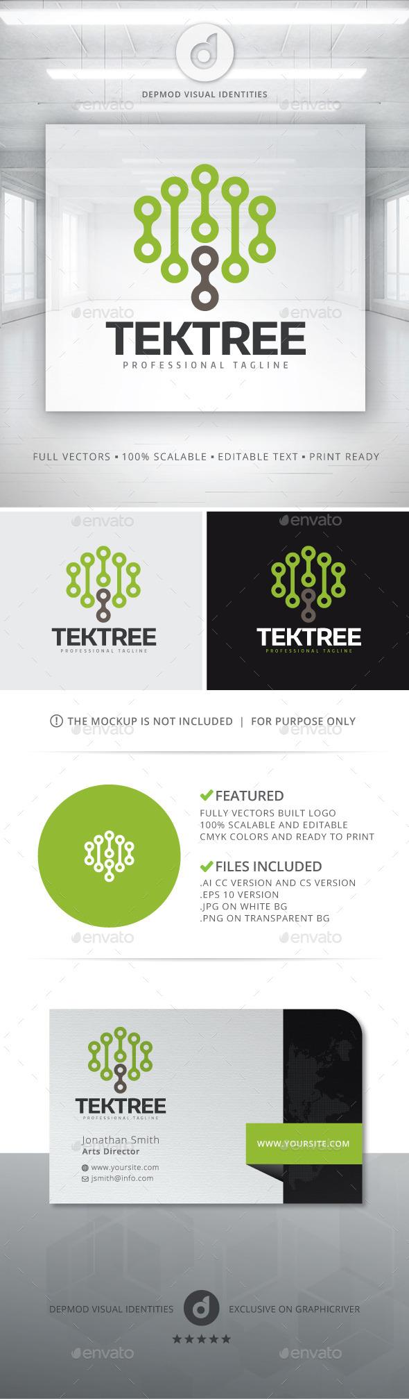 Tek Tree Logo - Symbols Logo Templates