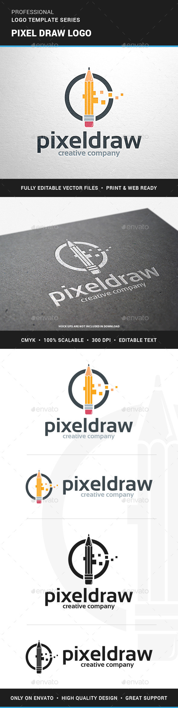 Pixel Draw Logo Template - Objects Logo Templates