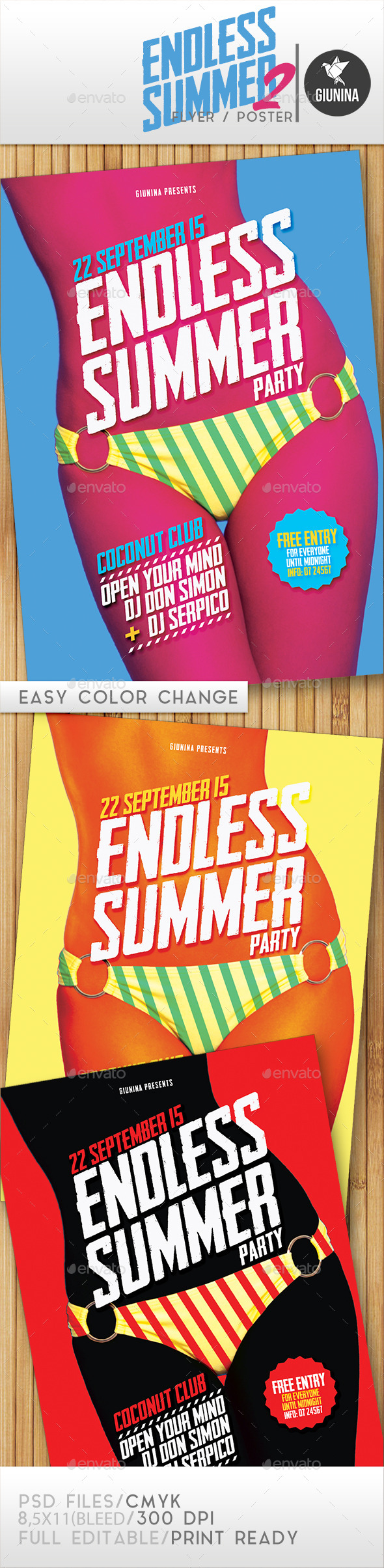 Endless Summer 2 Flyer/Poster - Events Flyers