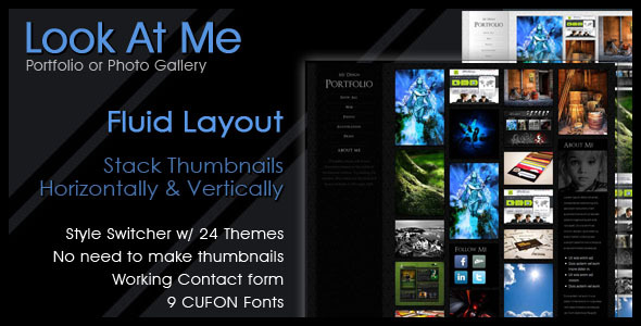 Look At Me - Portfolio/Design/Photo Gallery - Portfolio Creative
