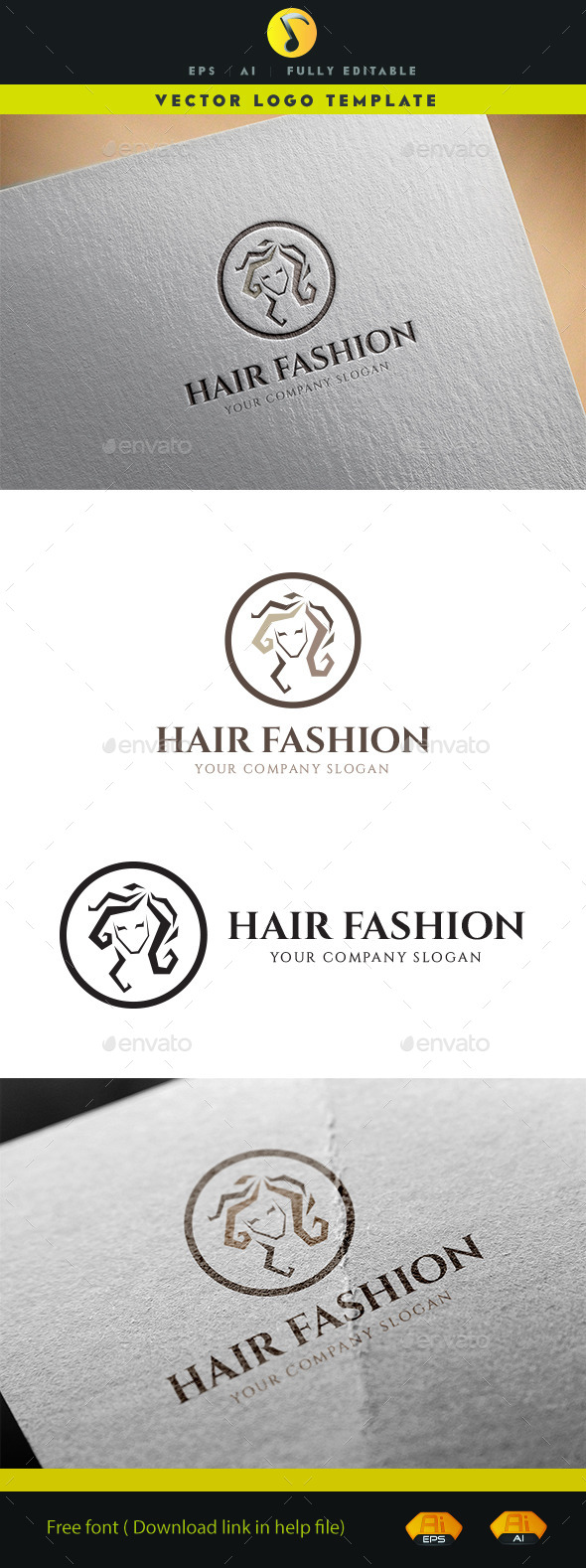Hair Fashion - Objects Logo Templates