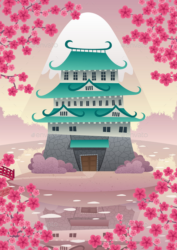 Japanese Castle  - Buildings Objects