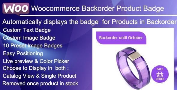 Woocommerce Backorder Product Badge