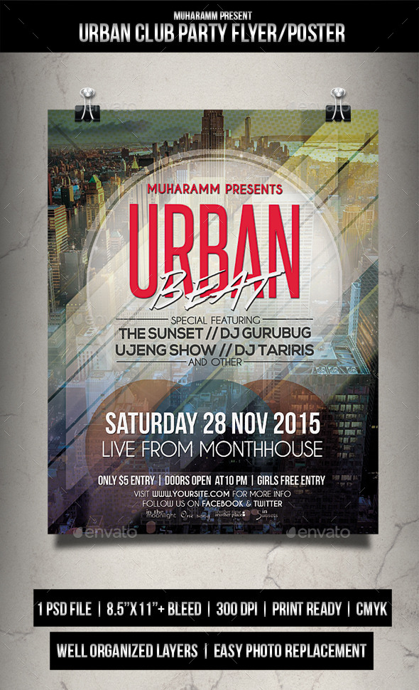 Urban Club Party Flyer Poster