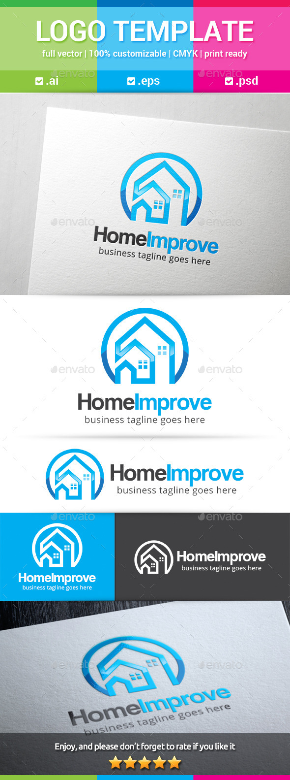Home Improvement Logo - Buildings Logo Templates