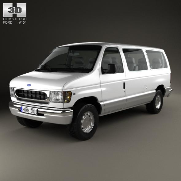 Ford E-Series Passenger Van 1998 - 3DOcean Item for Sale