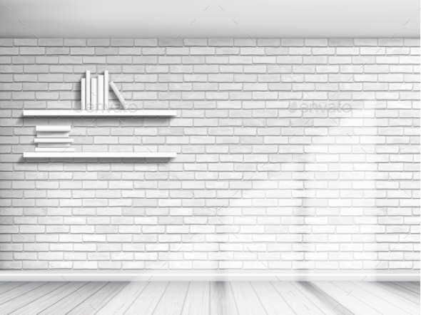 White Brick Wall Background - Man-made Objects Objects