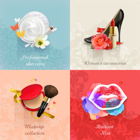 Beauty and Cosmetics - Miscellaneous Vectors