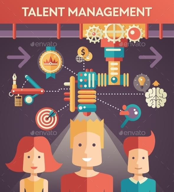 Conceptual Flat Talent Management Design - Backgrounds Business