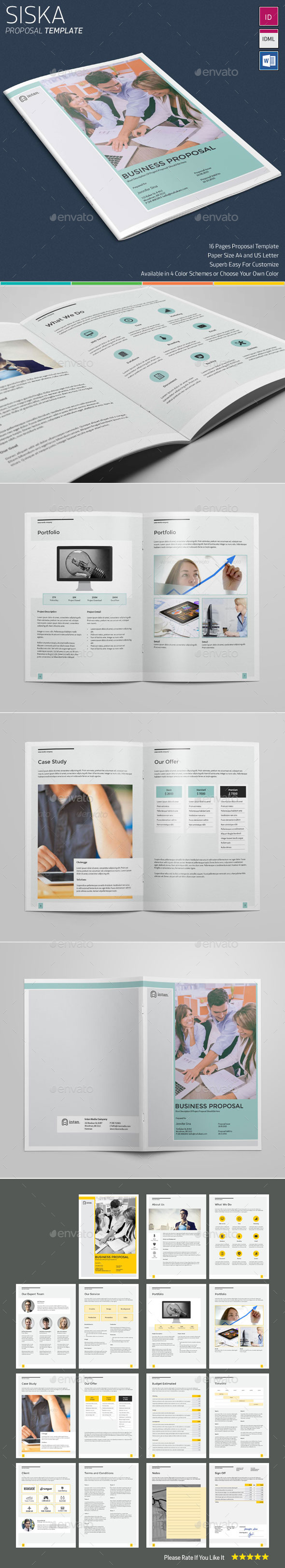 Siska Proposal Template - Proposals & Invoices Stationery