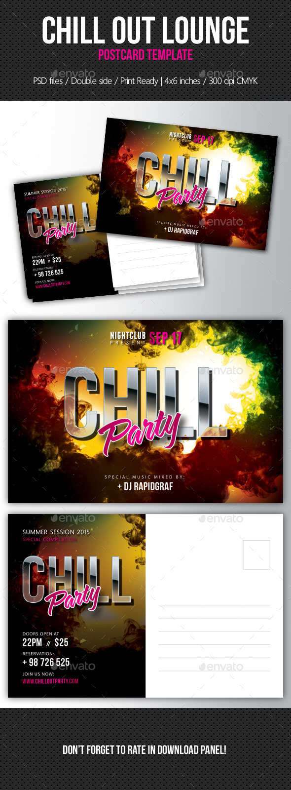 Music Night Party Postcard Template V09