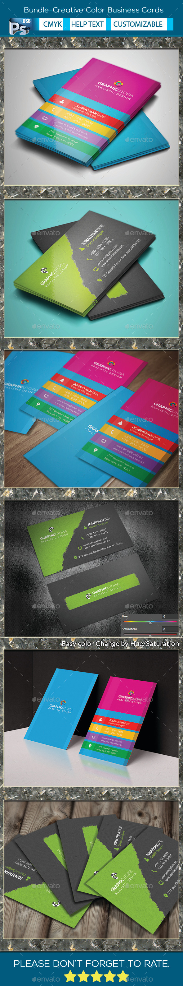 Bundle-Creative Color Business Cards