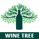 Wine Tree Logo Template - GraphicRiver Item for Sale