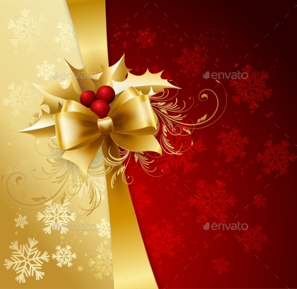 Background with Christmas Baubles and Snowflakes - Miscellaneous Vectors