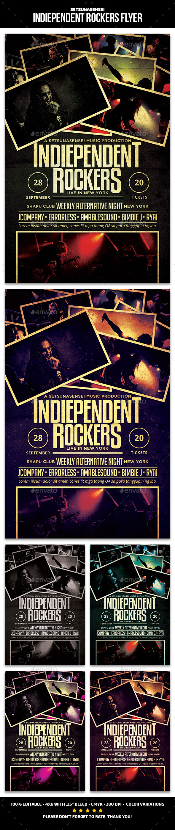 Indiependent Rockers Flyer - Concerts Events