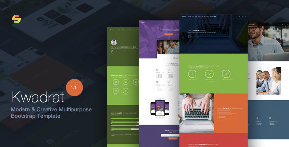 Kwadrat - Creative Multipurpose HTML5 Template - Corporate Site Templates