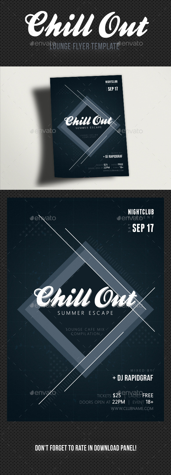 Chill Out Flyer - Clubs & Parties Events
