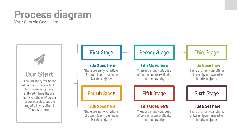 concept google slides presentation templaterojdark | graphicriver, Presentation 3D 4 Stages Building Slides Template Concept, Presentation templates