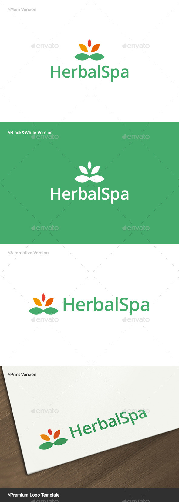 Herbal Spa Logo - Nature Logo Templates