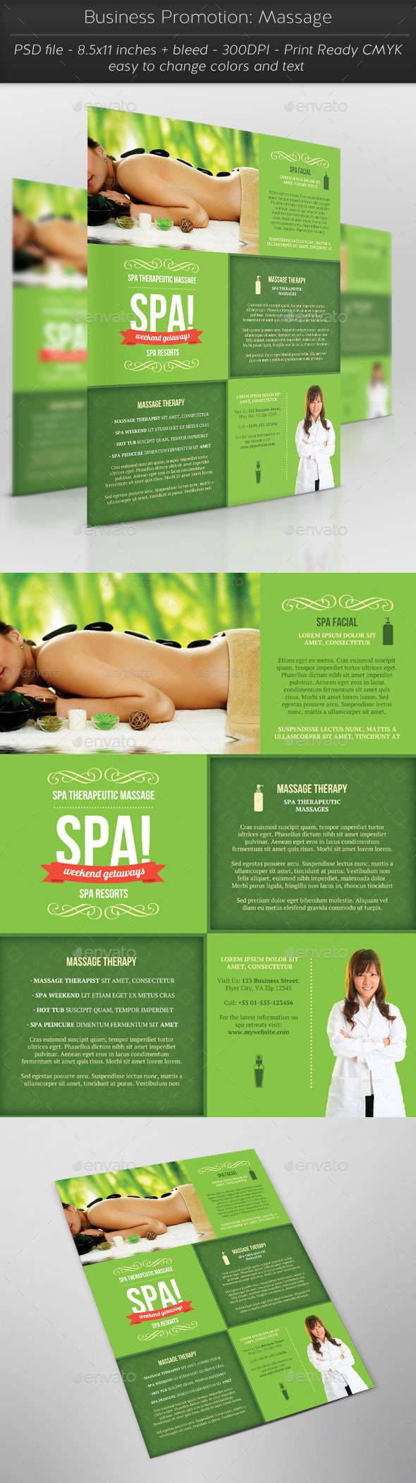 Business Promotion: Massage - Flyers Print Templates