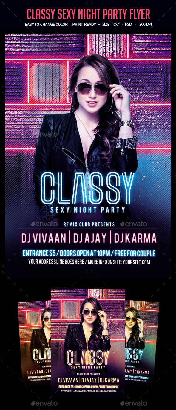 Classy Sexy Night Party Flyer - Clubs & Parties Events