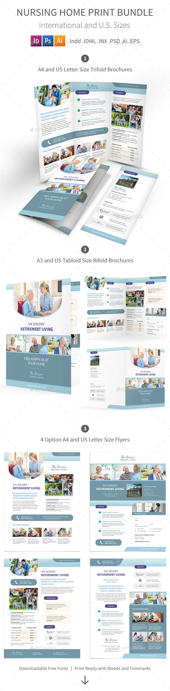 Nursing Home Print Bundle - Informational Brochures