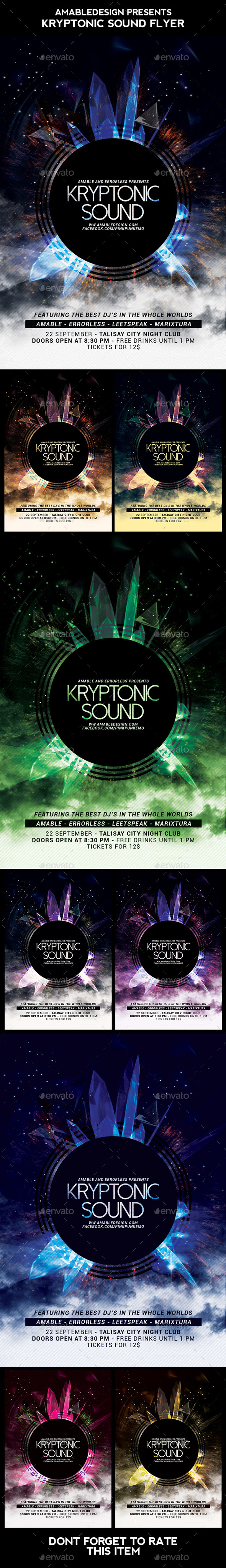 Kryptonic Sound Flyer - Clubs & Parties Events