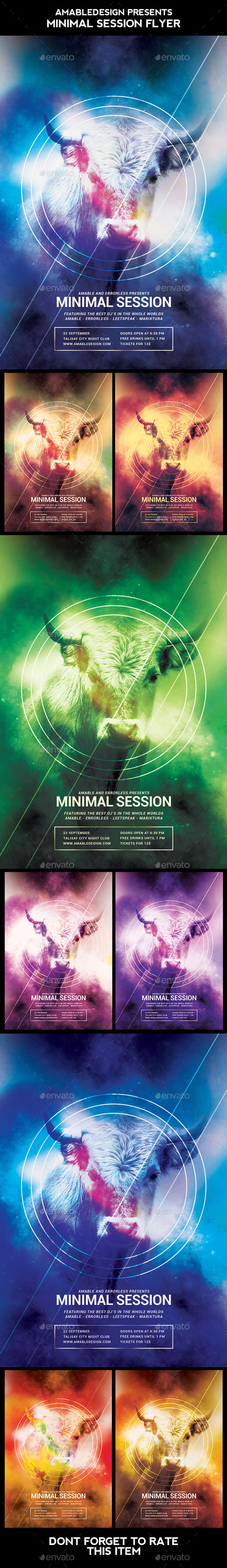 Minimal Session Flyer - Clubs & Parties Events