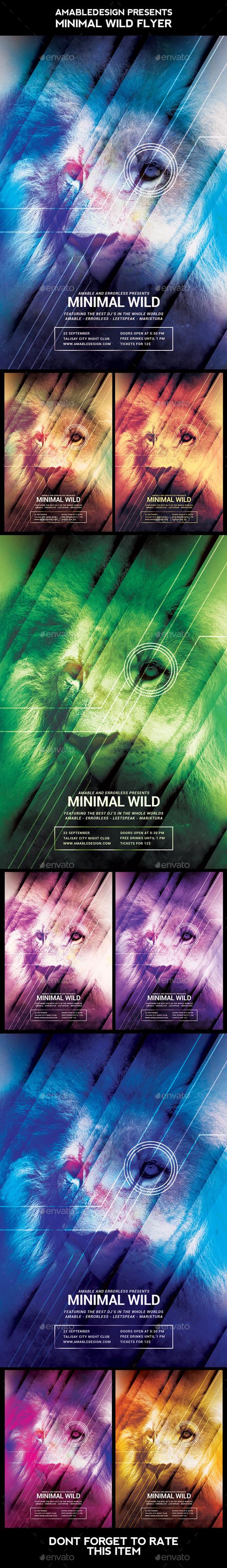 Minimal Wild Flyer - Clubs & Parties Events