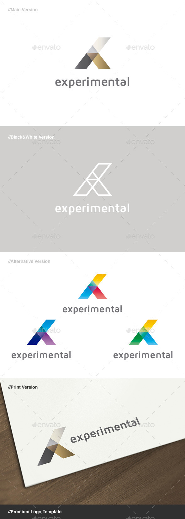 Experimental Abstract Logo - Abstract Logo Templates