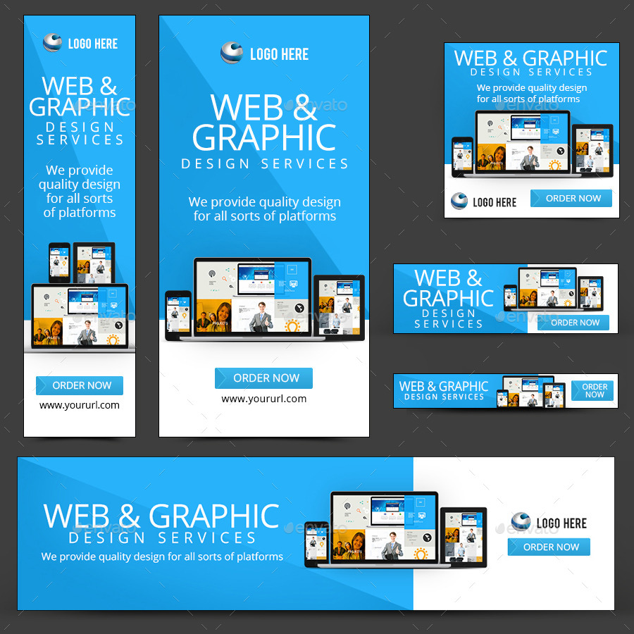 Web design banners by doto graphicriver for Make a blueprint free online