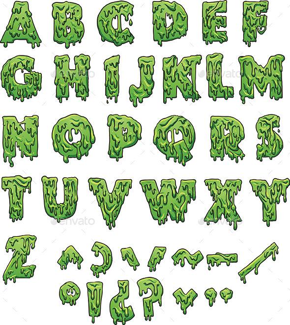 Slime Letter - Decorative Symbols Decorative