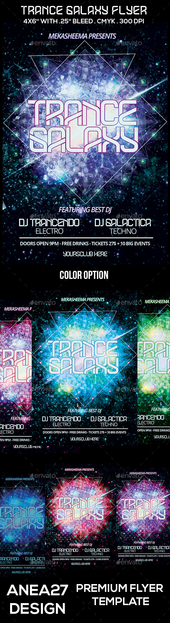 Trance Galaxy Flyer - Clubs & Parties Events