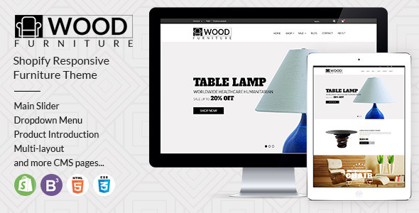 Image of Parallax Shopify Theme - Wood Furniture Decoration