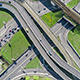 Aerial View Of A Freeway Intersection - VideoHive Item for Sale