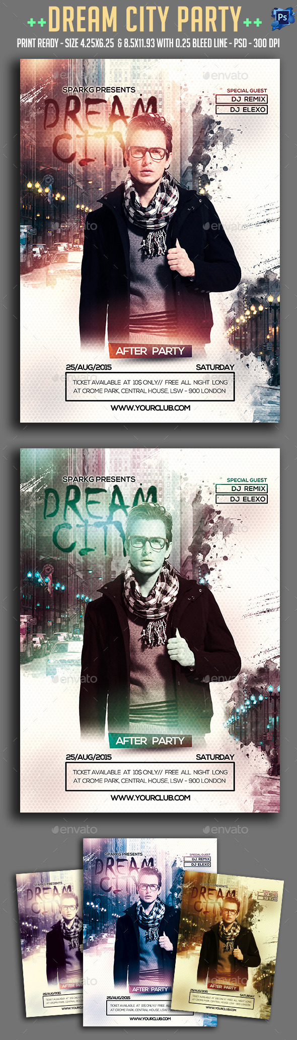 Dream City Party Flyer - Clubs & Parties Events