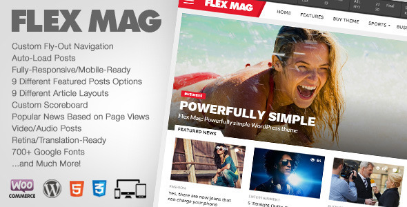 Flex Mag - Responsive WordPress News Theme