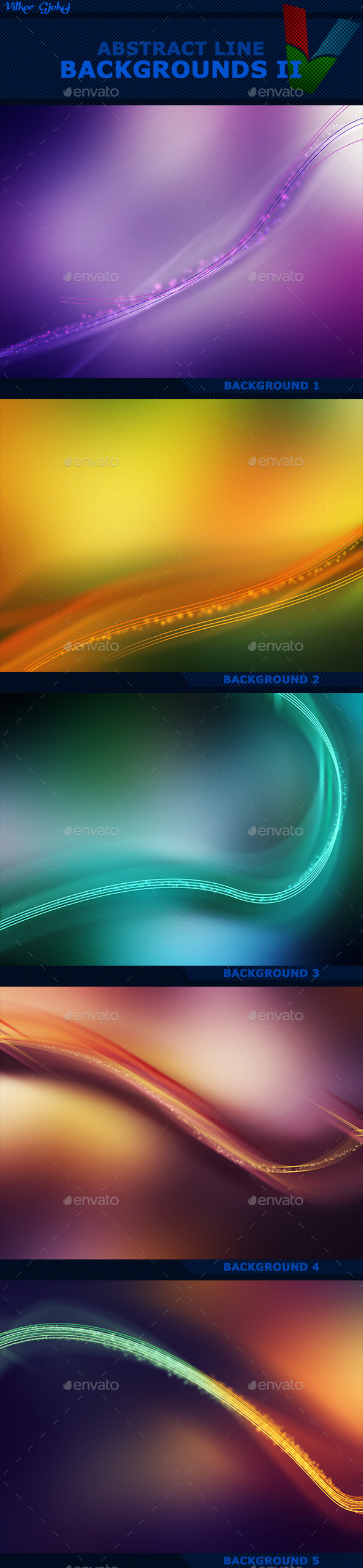 Abstract Line Backgrounds II
