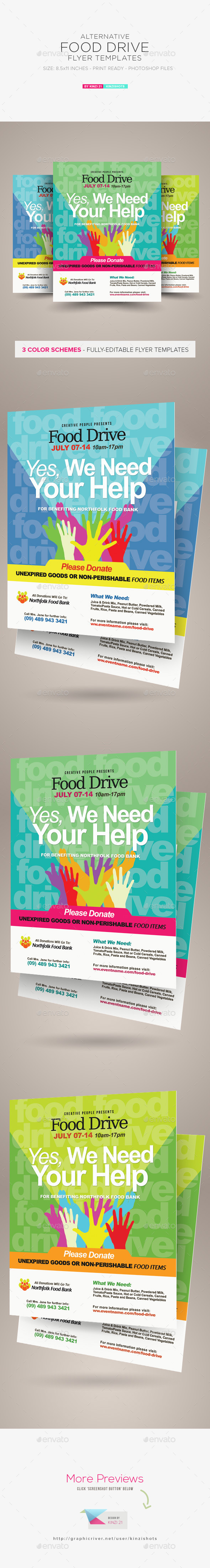 food drive flyer samples
