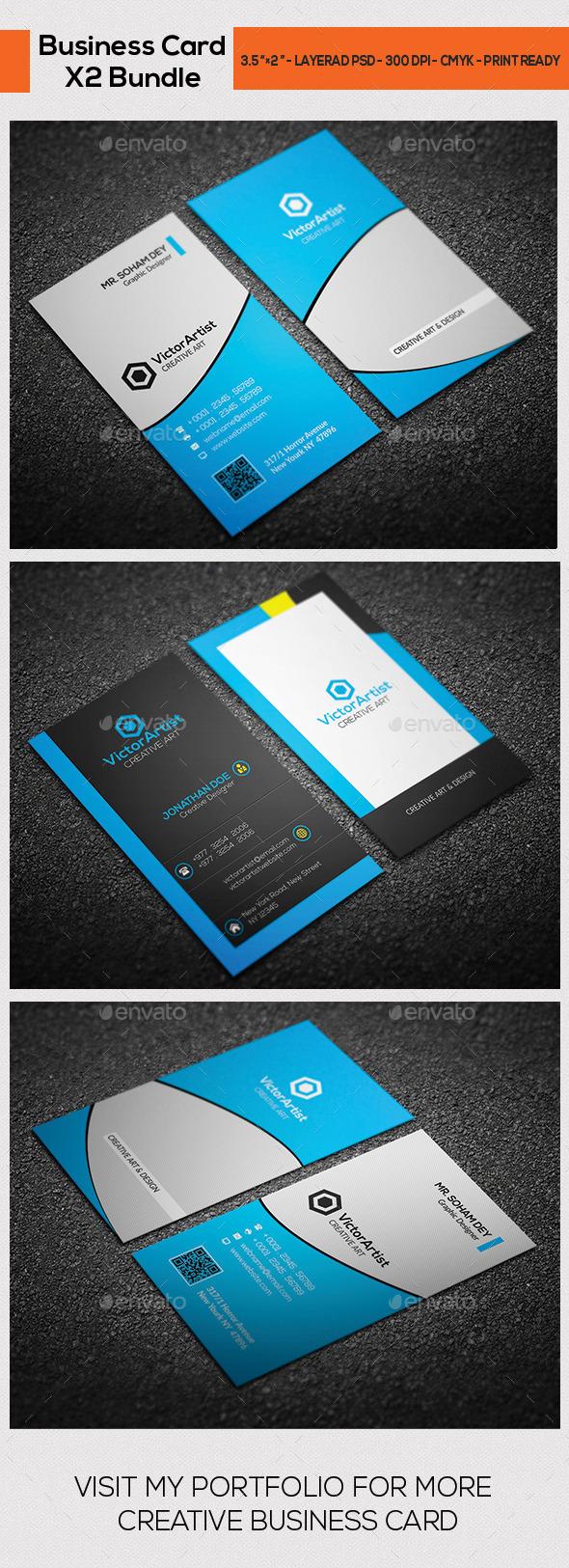 X2 Creative Business Card Bundle 03 - Corporate Business Cards