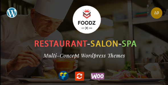 Foodz – Restaurant, Spa & Salon WordPress Theme